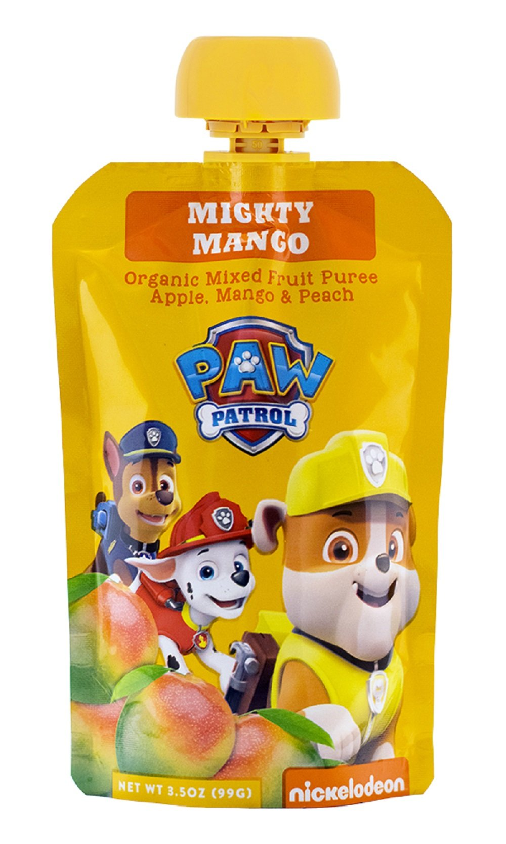 Paw Patrol Mighty Mango Organic Mixed Fruit Squeeze Pouch, 3.5 oz. (Pack Of 10)