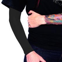 Tat2X Ink Armor Premium Full Arm Tattoo Cover Up Sleeve - No Slip Gripper - U.S. Made - Black - XSS (one Sleeve)