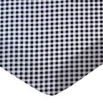 SheetWorld Fitted Portable / Mini Crib Sheet - Navy Gingham Check - Made In USA
