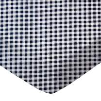 SheetWorld Fitted Bassinet Sheet - Navy Gingham Check - Made In USA