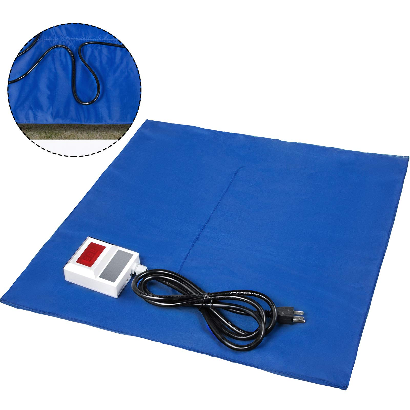 Bestauto Concrete Blanket Electric Concrete Curing Blanket Rapid Thaw Ground Thawing Blanket, Power Blanket Density Blanket Insulated Concrete Heater, 2' x 2' Finished Dimensions for Concrete Ground
