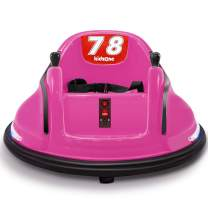 Kidzone Race #78/#87 Kid Ride On Bumper Car Toy for Toddlers Aged 1.5+ 6V Rechargeable Battery-Powered with Light for Boys & Girls, Pink