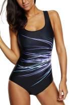 Vegatos Women's Pro One Piece Swimsuit Racerback Athletic Bathing Suit Swimwear