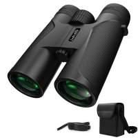 Iodvdffe 12x42 Powerful Binoculars,with Clear Low Light Night Vision Lightweight Binoculars, Bird Watching,Outdoor Hunting,Travel,Sightseeing, Adults Binoculars