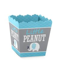 Blue Elephant - Party Mini Favor Boxes - Boy Baby Shower or Birthday Party Treat Candy Boxes - Set of 12