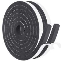 Foam Seal Tape 2 Rolls 1/2 Inch Wide X 3/8 Inch Thick, Self Adhesive Weather Stripping Insulation Foam Neoprene Weather Stripping, Total 13 Feet Long (2 X 6.5 Ft Each)