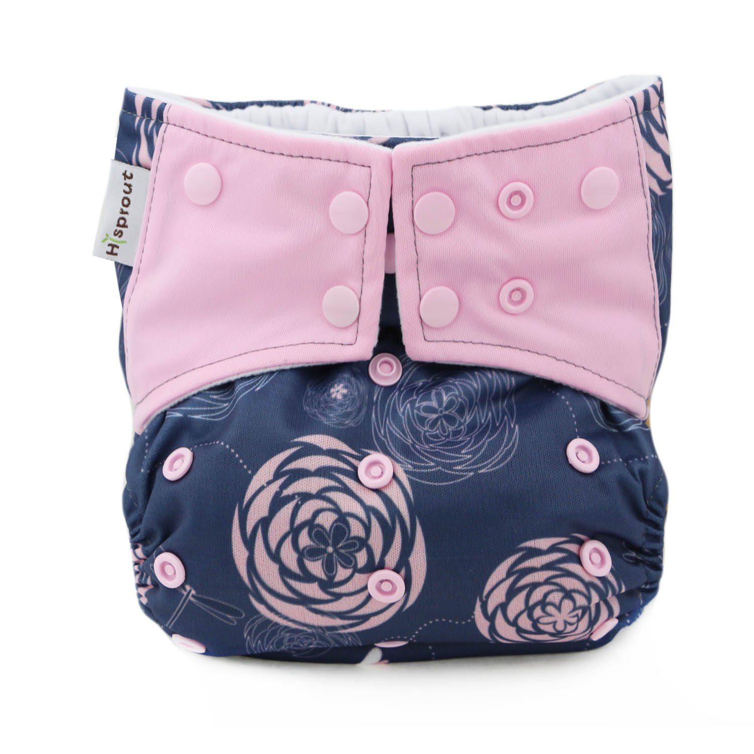 Hi Sprout One Size Adjustable Washable Reusable Pocket Cloth Diapers for Baby Girls and Boys,Dream Dragonfly
