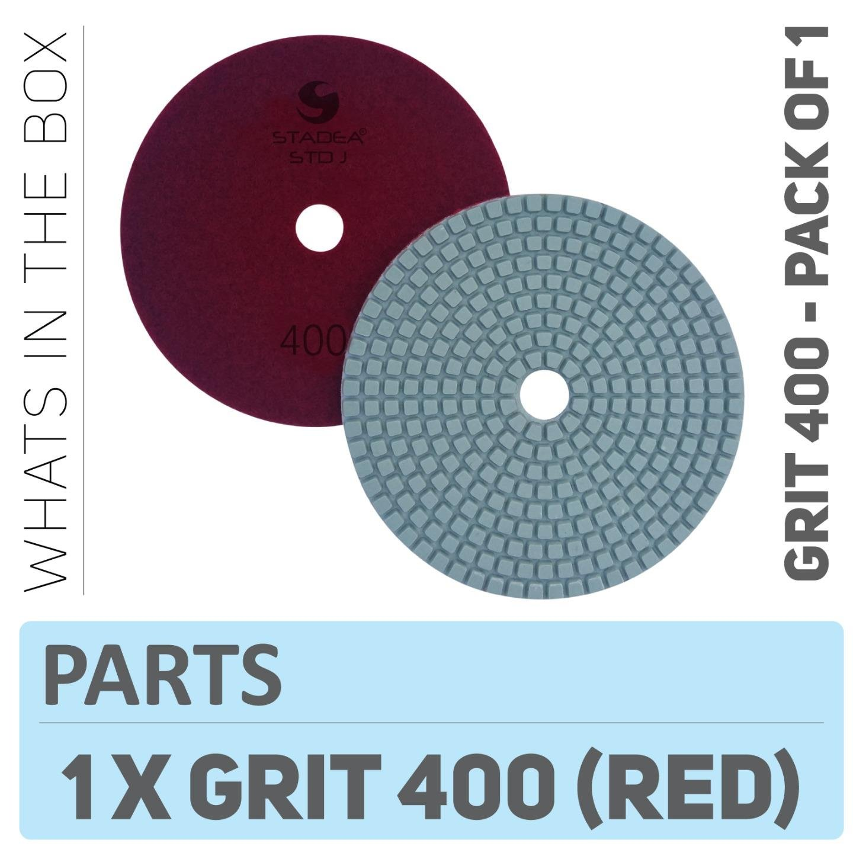 "Stadea PPW196D Diamond Polishing Pads 5"" For Concrete Terrazzo Marble Granite Countertop Floor Wet Polishing, Grit 400"