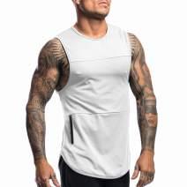 COOFANDY Mens Gym Tank Tops Sleeveless Workout Bodybuilding Muscle Shirt