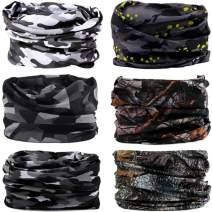 DEMIL 6PCS Seamless Headbands for Men & Women Balaclava Headwear Head Wrap Scarf