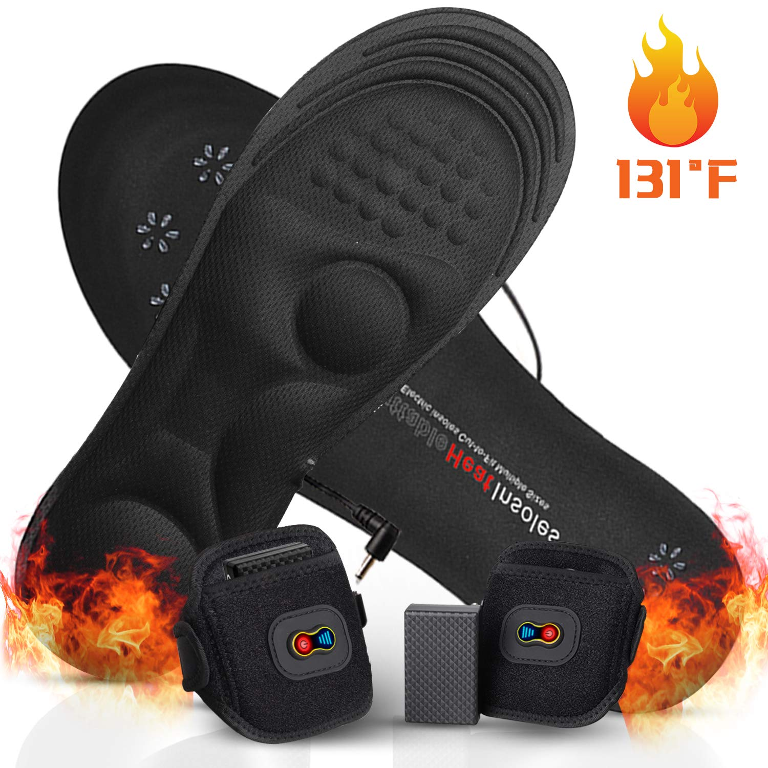 GMAYOO Electric Heated Insoles with