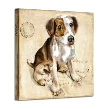 """Dog Canvas Print Wall Art: Jack Russell Terrier Artwork Pet Graphic Painting Picture for Living Room (20"""" x 20 x 1 Panel)"""