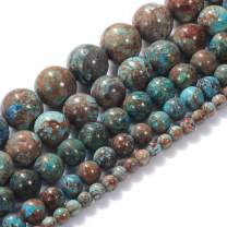 """Natural Stone Beads 12mm Crazy Blue Lace Agate Gemstone Round Loose Beads Crystal Energy Stone Healing Power for Jewelry Making DIY,1 Strand 15"""""""