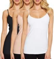 H HIAMIGOS Women 3 Packs Cami Camisole Adjustable Spaghetti Strap Tank Top Basic Layering Tanks