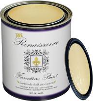 Retique It Chalk Finish Paint by Renaissance - Non Toxic, Eco-Friendly Chalk Furniture & Cabinet Paint - 32 oz (Quart), Naples Yellow