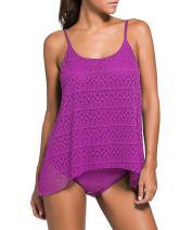 Jug&Po Women's Stripes Tankini Top Bikini Swimwear with Brief