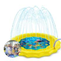 HECLOUD Sprinkle Pad & Splash Play Mat for Children's - Toddler Sprinkler Water Toys Inflatable Outdoor Lawn Swimming Pool Toy for Boys Girls for 1-6 Year Old Boy Girl
