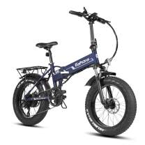 Eahora X5 4.0 Fat Tire Folding Electric Bike 500W Snow Electric Bikes for Adults 48V 10.4Ah Electric Bicycle Lithium Battery Smart E-PAS Power Recharge System 7 Speed