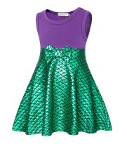 AmzBarley Girls Mermaid Costume Outfit Princess Fancy Party Cosplay Dress up