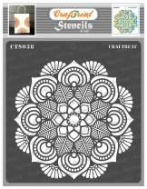 CrafTreat Flower Mandala Stencils for Painting on Wood, Canvas, Paper, Fabric, Floor, Wall and Tile - Mandala - 6x6 Inches - Reusable DIY Art and Craft Stencils - Lotus Mandala Stencil