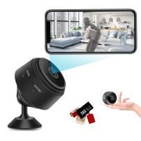 Mini Security Camera Spy Hidden Nanny Cam WiFi Home Alert Cameras with Audio and Video 1080P Night Vision Motion Sensor Portable Tiny Cameras App Alert for Home Car Indoor Outdoor