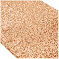 ShinyBeauty 12x72-Inch Rectangle-Sequin Table Runner- for Wedding/Party/Decor (12x72-Inch) (6, Rose Gold)