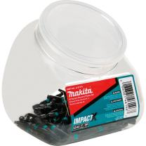 Makita A-97374 Impactx 2 Square Recess 2″ Power Bit, 100 Pack, Jar