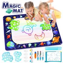 "Betheaces Large Water Doodle Mat - Magic Drawing Mat Kids Toys Doodle Painting Writing Mat with Pens Kids Toys Gifts for Toddlers Boys Girls Age of 2 3 4 5 6 7 Year Old 40""x 28"""