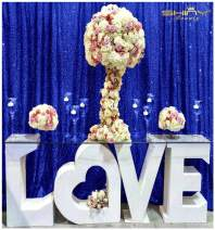 Bride's Choice 6FTx6FT Royal Blue Sequin Photo Booth, Wedding Decoration Fabric, Baby Shower, Royal Blue Sequin Backdrop,Sequin Tablecloth,Sequin Fabric