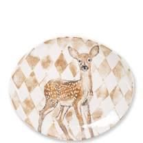 Vietri Into The Woods Doe Oval Platter