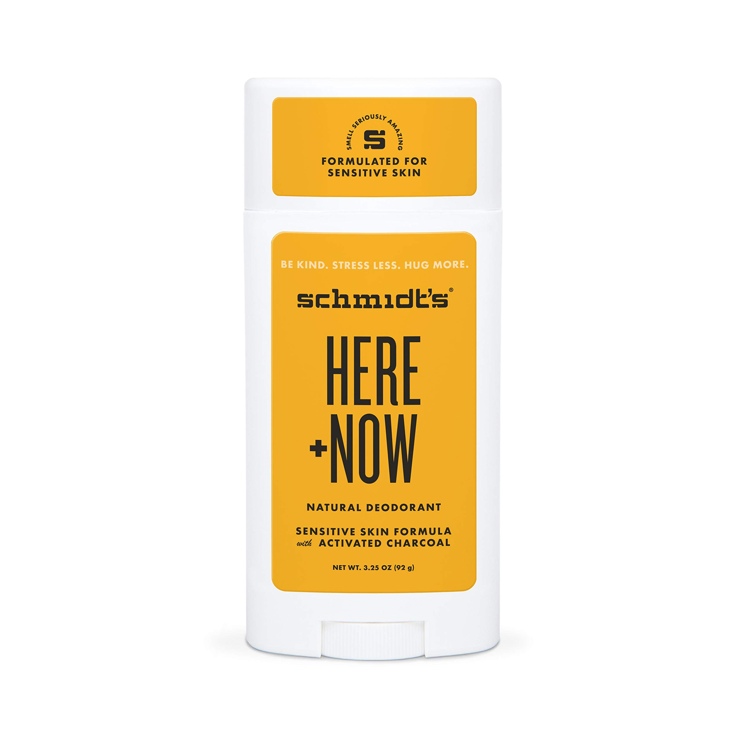 Schmidt's In Partnership with Justin Bieber, Aluminum Free Sensitive Skin Baking Soda-Free Natural Deodorant For 24 Hour Odor Protection and Freshness Here + Now Vegan, Certified Cruelty Free 3.25 oz