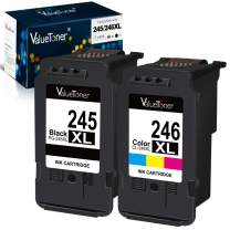 Valuetoner Remanufactured Ink Cartridge Replacement for Canon Pg-245Xl Cl-246Xl PG-243 CL-244 to use with Pixma MX492 MX490 MG2420 MG2520 MG2522 MG2920 MG2922 MG3022 MG3029 (2-Pack)