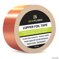 Premium Adhesive Copper Foil Tape - Double-Sided Conductive - 2 inch (50 mm) - EMI and RF Shielding, Paper Circuits, Electrical Repairs, Grounding, Arts and Crafts, Home Interior, Slug Repellent