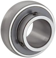 """Browning VS-236 Ball Bearing Insert, Setscrew Lock, Regreasable, Contact and Flinger Seal, Steel, 2-1/4"""" Bore, 110mm OD, 27 mm Outer Ring Width"""