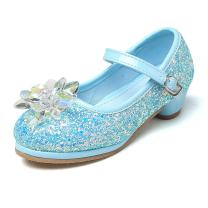 Chiximaxu Girl's Cosplay Princess Shoes Low Heel with Crystal Flower(Toddler/Little Kid)