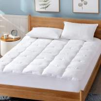 """Bedsure Twin XL Mattress Pad, Upgraded 500GSM Breathable Cotton Quilted Mattress Cover with Deep Pocket (8""""-18""""), Extra Soft Hypoallergenic Down Alternative Filled Mattress Topper"""