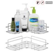 devesanter Corner Shower Caddy Bathroom Shelf Wall Mounted with Adhesive,No Drilling Stainless Steel Strong Organizer Shower Caddies Kitchen Rack(2Rack)