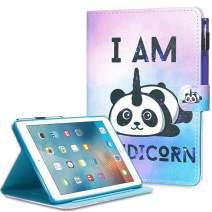 iPad Mini Case, Mini 2 3 4 Mini 5 Case Cover, MonsDirect Leather Smart Kickstand Case Flip Wallet Protective Case Compatible with Apple iPad Mini 1 2 3 4 Mini 5 2019, Unipanda