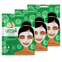 Yes To Cucumbers Calming Paper Mask - 3 Pack
