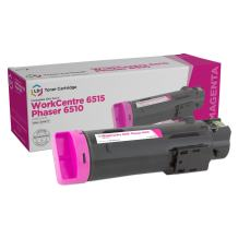 LD Compatible Toner Cartridge Replacement for Xerox Phaser 6510 & WorkCentre 6515 High Yield (Magenta)