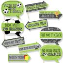 Big Dot of Happiness Funny Goaaal - Soccer - Baby Shower or Birthday Party Photo Booth Props Kit - 10 Piece