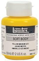 Liquitex 2002412 Professional Soft Body Acrylic Paint 2-oz jar, Yellow Medium AZO