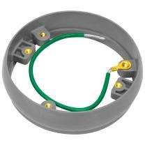 "Enerlites 4.5"" Round Non-Metallic Leveling Ring Adapter for PVC Floor Box Housings in Concrete Floors, Non-Corrosive, ENLC001LR, Gray"