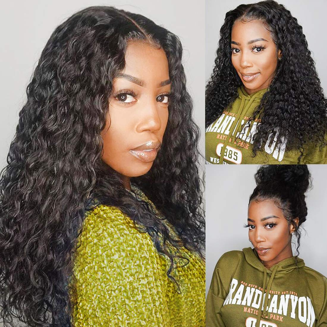 13x6 Lace Front Wig Water Wave Human Hair Wig For Black Women Glueless 130 Density Short Pre Plucked With Baby Hair 6inch deep part Wig Wet And Wavy Malaysian Cheap Wigs 12 Inch