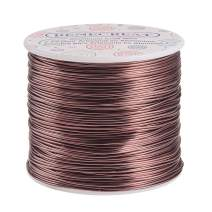 BENECREAT 12 17 18 Gauge Aluminum Wire (18 Gauge,492 FT) Anodized Jewelry Craft Making Beading Floral Colored Aluminum Craft Wire - Brown