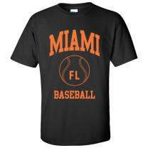 Classic Baseball Arch Basic Cotton T-Shirt