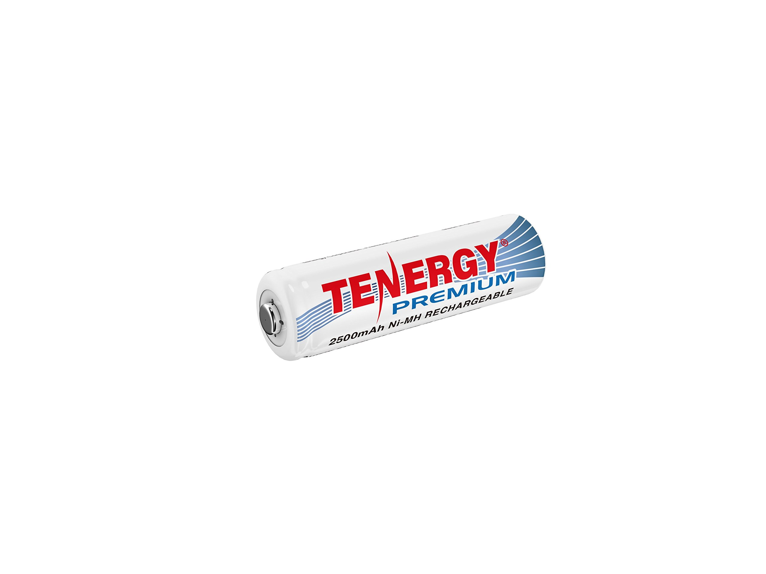 Tenergy Premium Rechargeable AA Battery, High Capacity 2500mAh NiMH AA Battery, AA Cell Battery, 1-Pack