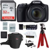 Canon PowerShot SX530 HS Digital Camera + Sandisk 32GB Memory Card + Tripod + Ritz Gear Bag + Card Reader + Cleaning Kit + Spare Battery Bundle