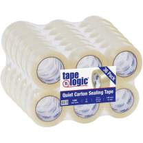 Aviditi Tape Logic 2 Inch x 110 Yard 2 Mil Clear, Heavy Duty Quiet Packing Tape, 36 Pack, Perfect for Packing, Shipping, Moving, Home and Office