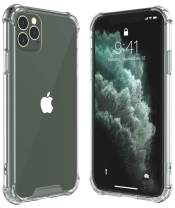 ALOFOX for iPhone 11 Pro Max Case, Thin Slim Hybrid Case Hard PC with Soft TPU Bumper Anti-Scratch Protective Crystal Clear Case for iPhone 11 Pro Max 6.5 inch 2019 Release (Clear)